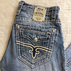 """Rock Revival Matthew Bootcut Jeans Size 32x30.5"""""""